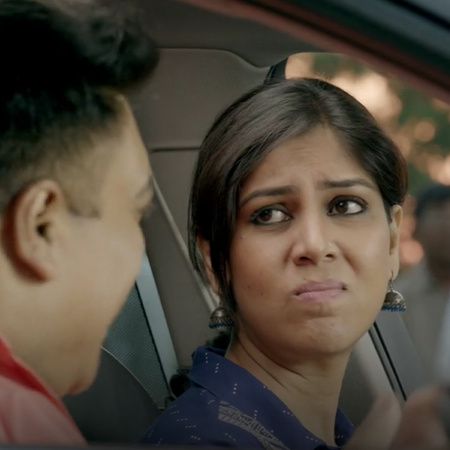 Karan experiences an embarrassing situation in front of his wife as he