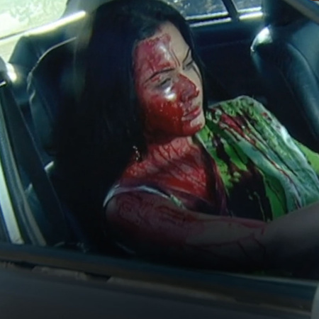 Sindoora successfully escapes the crime scene after killing Sagar & Vi