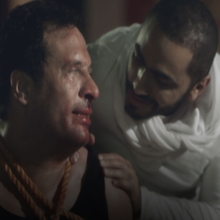 Adam tortured the officer saif and tells him the truth but saif threat