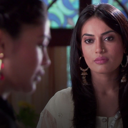 How will Tanveer react when Sanam questions her about her family?