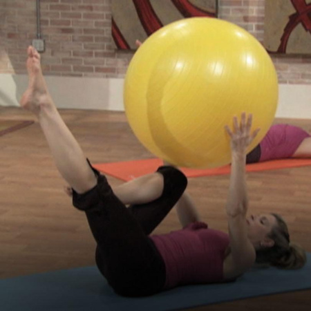 Pilates uses balance balls to make the backbone stronger.