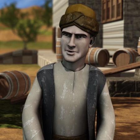 يقابل أمير الاسكندرية - ابن بطوطة ويعرف حكايته فيأمر بأعطائه أموال وتع