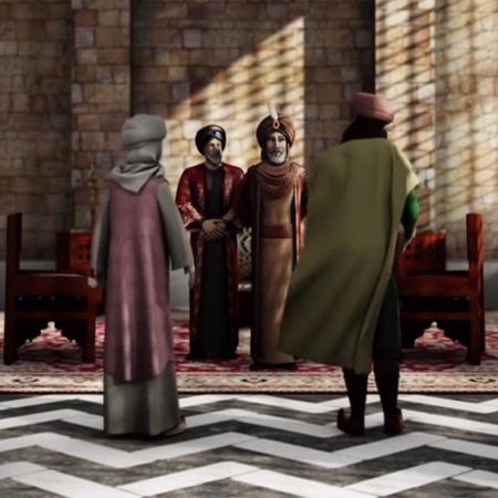 يكتشف ابن بطوطة حكاية نوارة ووالدها، ويقرر معهما مساعدة أهالي دمشق في