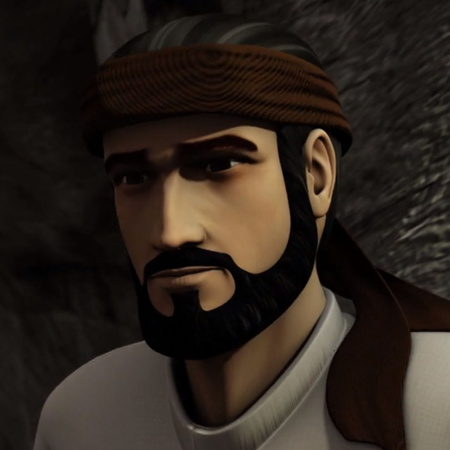 يساعد  كل من ابن بطوطة و التاجر - السلطان و ينقذان حياته